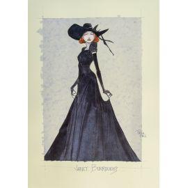 CROCI dessin original 7 : Janet Burroughs en pied