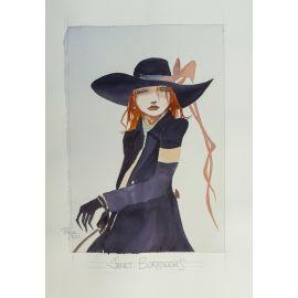 CROCI dessin original 10 : Janet Burroughs en buste
