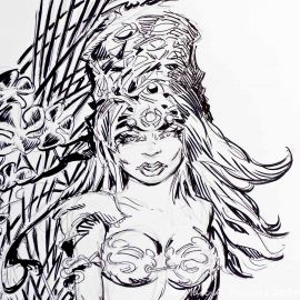 SAUVION dessin original A4 n° 26