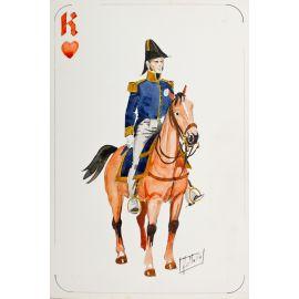 PAQUES J-M Cavalier napoléonien roi de coeur Willem I