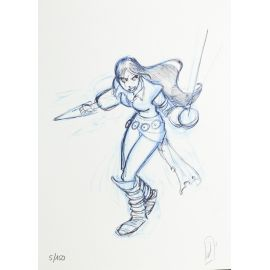 ALARY Belladonne ex-libris crayon bleu n et s 150 ex
