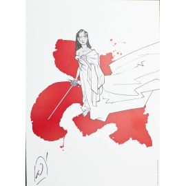 ALARY Belladonne ex-libris rouge et blanc n et s 250 ex