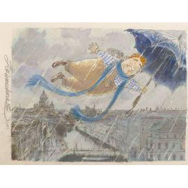 ARINOUCHKINE Les contes 7 Bonhomme volant au parapluie