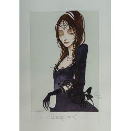CROCI dessin original 5 : Ellénore buste (Adolphe)