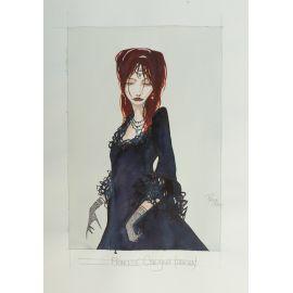 CROCI dessin original 11 : Princesse Cneajna ( Dracula )