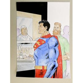 GODEAU Comics at Home illustration originale 22 Superman