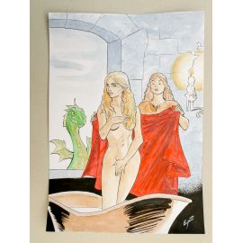 GODEAU Comics at Home illustration originale 24 Daenerys