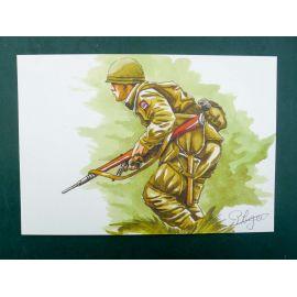 LEGEIN ex-libris WW2 soldat US courant signé