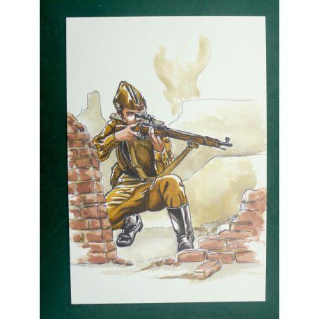 LEGEIN ex-libris WW2 Armée Rouge V signé
