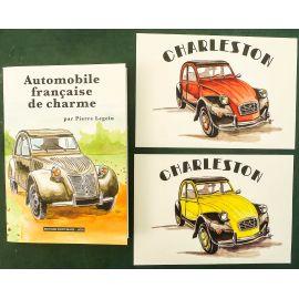 LEGEIN Automobile française de charme + 2 ex-libris