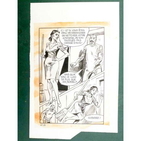 RAPETTI ( Elvifrance ) Effleure-moi (Les Drôlesses 47) planche originale 47-76