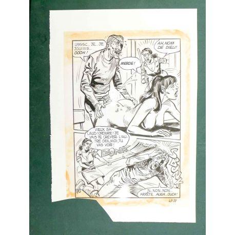 RAPETTI ( Elvifrance ) Effleure-moi (Les Drôlesses 47) planche originale 47-77