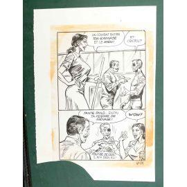 RAPETTI ( Elvifrance ) Effleure-moi (Les Drôlesses 47) planche originale 47-79