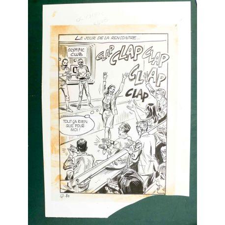 RAPETTI ( Elvifrance ) Effleure-moi (Les Drôlesses 47) planche originale 47-80