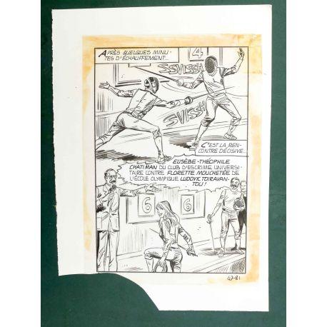 RAPETTI ( Elvifrance ) Effleure-moi (Les Drôlesses 47) planche originale 47-81
