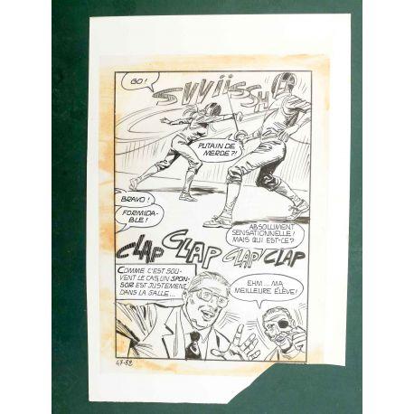 RAPETTI ( Elvifrance ) Effleure-moi (Les Drôlesses 47) planche originale 47-82