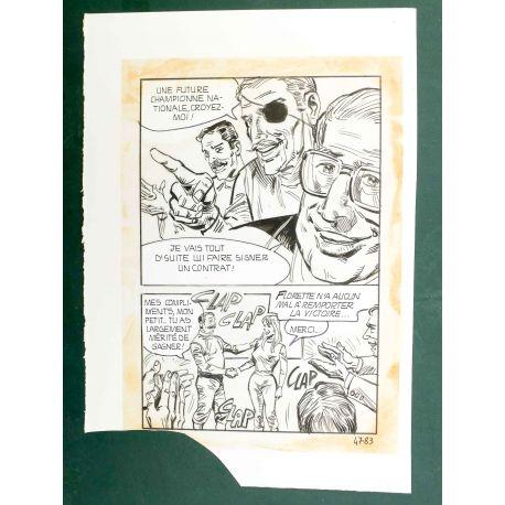 RAPETTI ( Elvifrance ) Effleure-moi (Les Drôlesses 47) planche originale 47-83