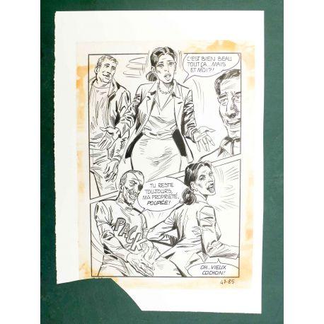 RAPETTI ( Elvifrance ) Effleure-moi (Les Drôlesses 47) planche originale 47-85