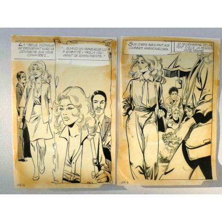 MONTANARI La belle inconnue récit complet 163 pl. Histoires noires 119 + livre