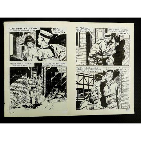 CECCHETTO Pugni e Marinai (Série Orange 25) double planche originale 25 - 8 et 9