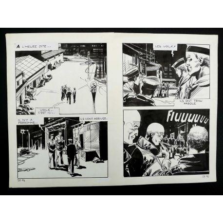 CECCHETTO Pugni e Marinai (Série Orange 25) double planche originale 25 - 94 et 95