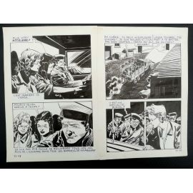 CECCHETTO Pugni e Marinai (Série Orange 25) double planche originale 25 - 98 et 99