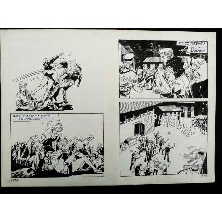 CECCHETTO Pugni e Marinai (Série Orange 25) double planche originale 25 - 106 et 107