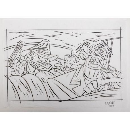 LAPONE A.D.A. dessin original 3