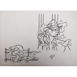 LAPONE A.D.A. dessin original 5