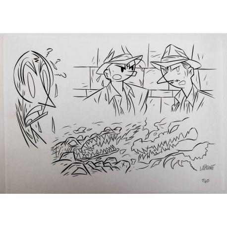 LAPONE A.D.A. dessin original 7