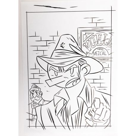 LAPONE A.D.A. dessin original 10