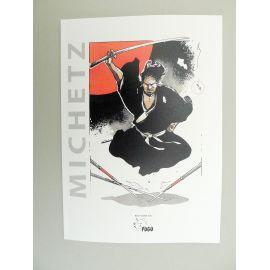 MICHETZ Artbook Rônin 2 Kogaratsu TL 100 ex numéroté signé + ex-libris