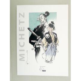 MICHETZ Artbook Rônin 1 Kogaratsu TL 100 ex numéroté signé + ex-libris