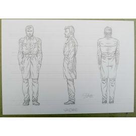 OLIVIER Cor dessin préparatoire A4 n° 3