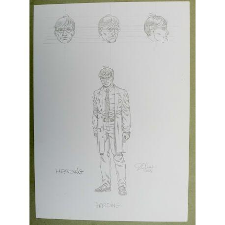 OLIVIER Cor dessin préparatoire A4 n° 5