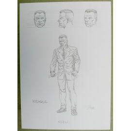 OLIVIER Cor dessin préparatoire A4 n° 6