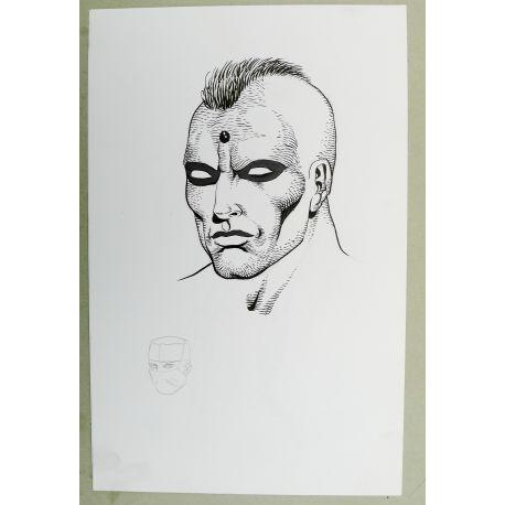 OLIVIER Cor dessin préparatoire A4 n° 7