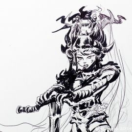 SAUVION dessin original A4 n° 8
