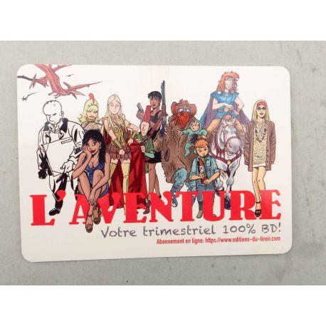 COLLECTIF L'Aventure n° 4 carte postale Luguy Taymans Walthéry Cossu Benoi Nico