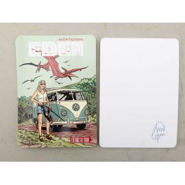 TAYMANS carte postale Eden signée au dos