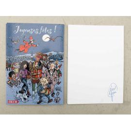 TAYMANS carte postale Joyeuses Fêtes signée au dos