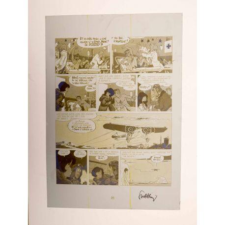WALTHERY Natacha Le grand pari wallon plaque d'imprimerie 24