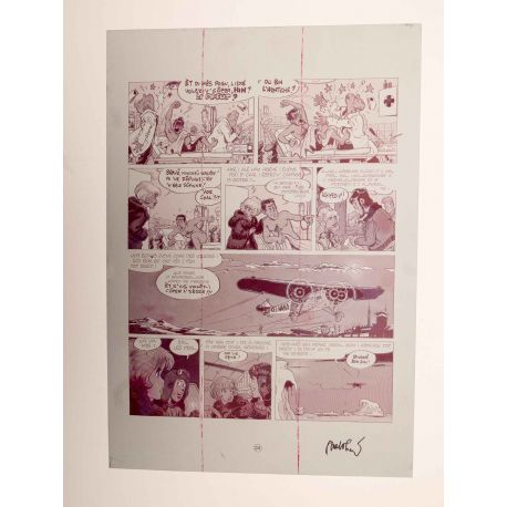WALTHERY Natacha Le grand pari wallon plaque d'imprimerie 24 magenta