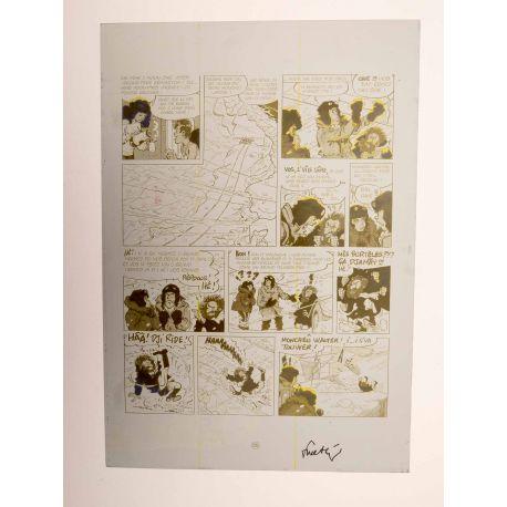 WALTHERY Natacha Le grand pari wallon plaque d'imprimerie 55 yellow