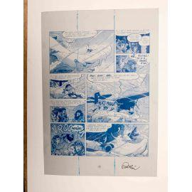 WALTHERY Natacha Le grand pari wallon plaque d'imprimerie 56 cyan