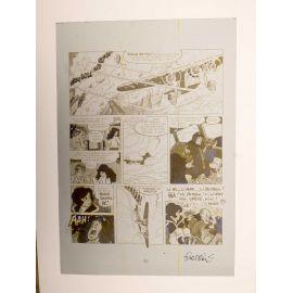WALTHERY Natacha Le grand pari wallon plaque d'imprimerie 58 yellow