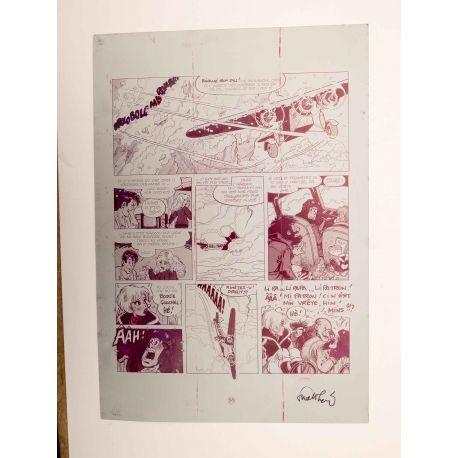 WALTHERY Natacha Le grand pari wallon plaque d'imprimerie 58 magenta