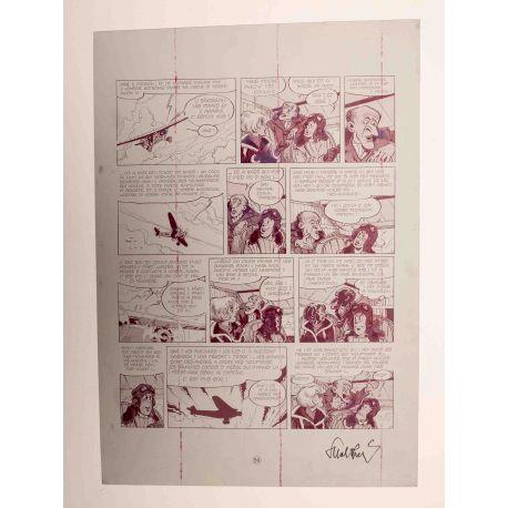 WALTHERY Natacha Le grand pari wallon plaque d'imprimerie 59 magenta