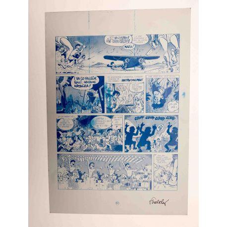 WALTHERY Natacha Le grand pari wallon plaque d'imprimerie 61 cyan