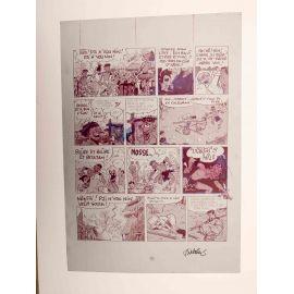 WALTHERY Natacha Le grand pari wallon plaque d'imprimerie 62 magenta
